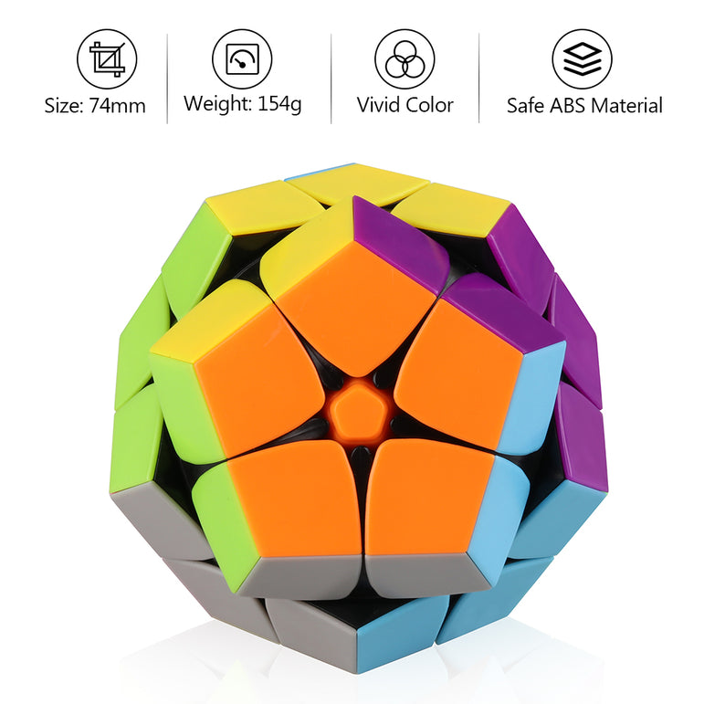 D-FantiX 2x2 Megaminx Stickerless Speed Cube Dodecahedron