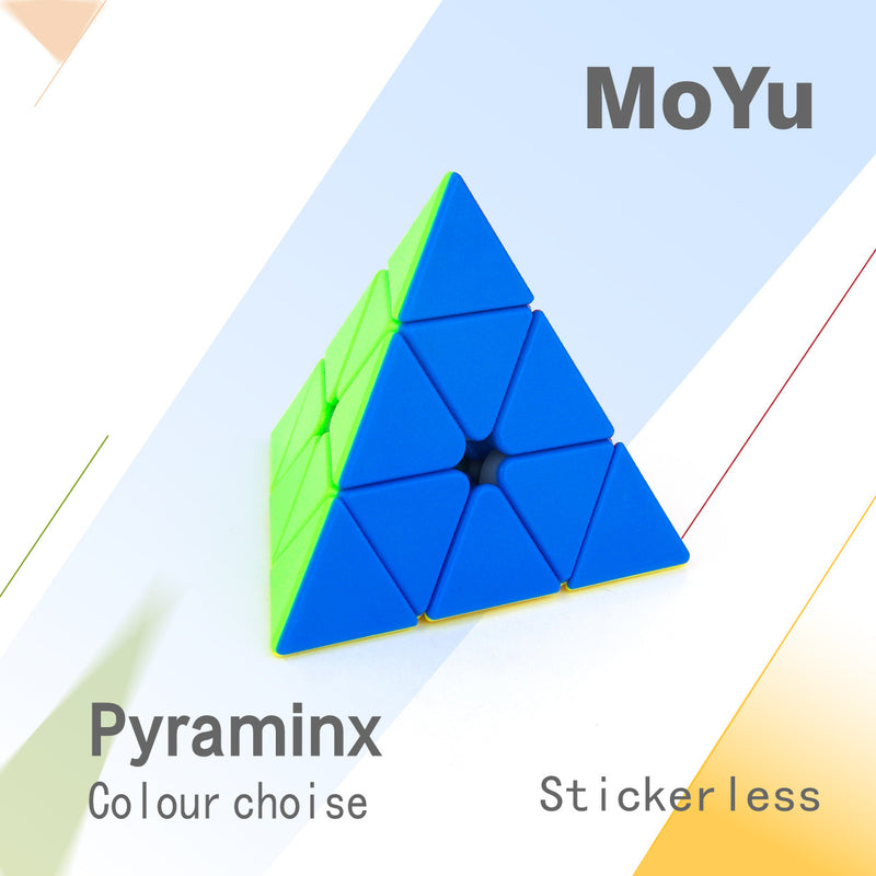 Moyu Mofang Jiaoshi Pyraminx Speed Cube Stickerless