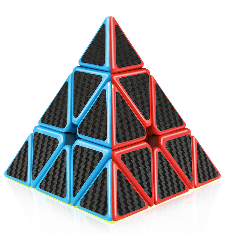 D-FantiX Carbon Fiber Speed Cube 2x2 3x3 Pyraminx Bundle