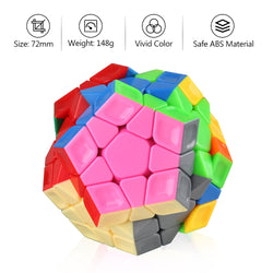 D-FantiX Cyclone Boys Rainbow Megaminx Speed Cube 3x3 Stickerless