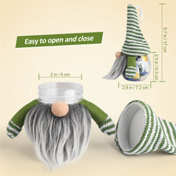 D-FantiX Swedish Gnome Candy Jar with Lid, Pack of 4 Scandinavian Tomte