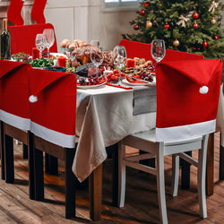 D-FantiX Christmas Chair Covers Set of 6