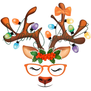 D-FantiX Reindeer Refrigerator Magnets, Christmas Holiday Magnets for Fridge Dishwasher
