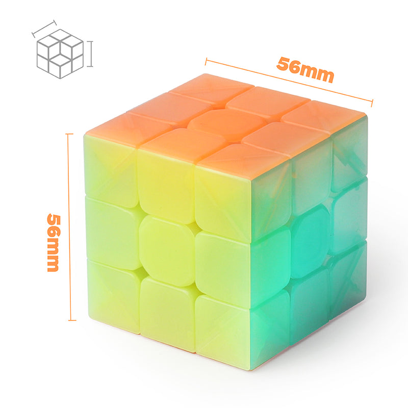 D-FantiX Qiyi Warrior W 3x3 Speed Cube 3x3x3 Stickerless Jelly Cube Puzzle