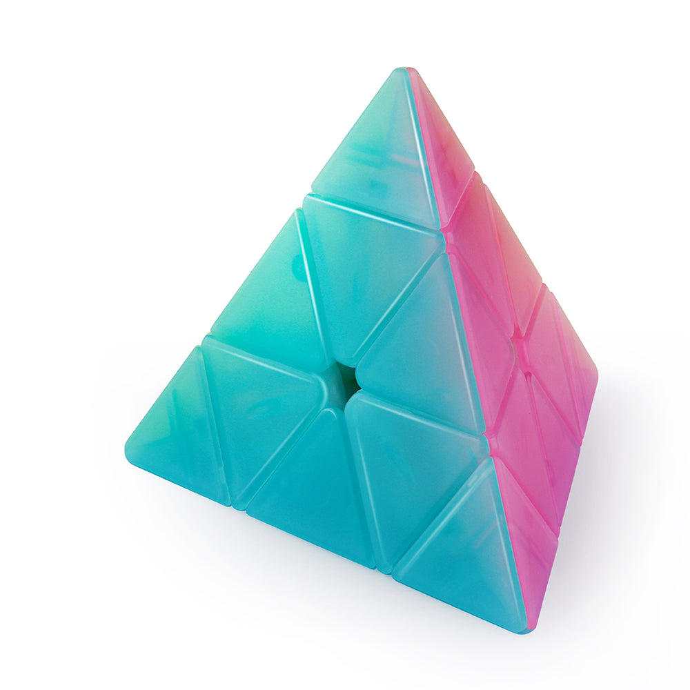 D-FantiX Qiyi Qiming Jelly Pyramid Stickerless Speed Cube 3x3 Cube Puzzle