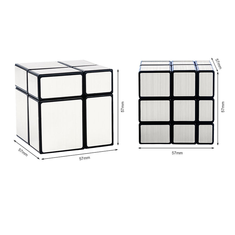 D-FantiX Shengshou 2x2 3x3 Mirror Speed Cube Set