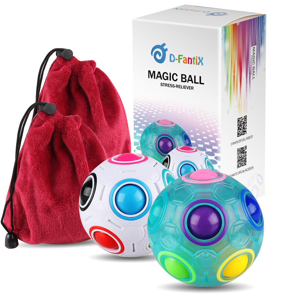D-FantiX Magic Rainbow Ball Cube Bundle Toys Set of 2