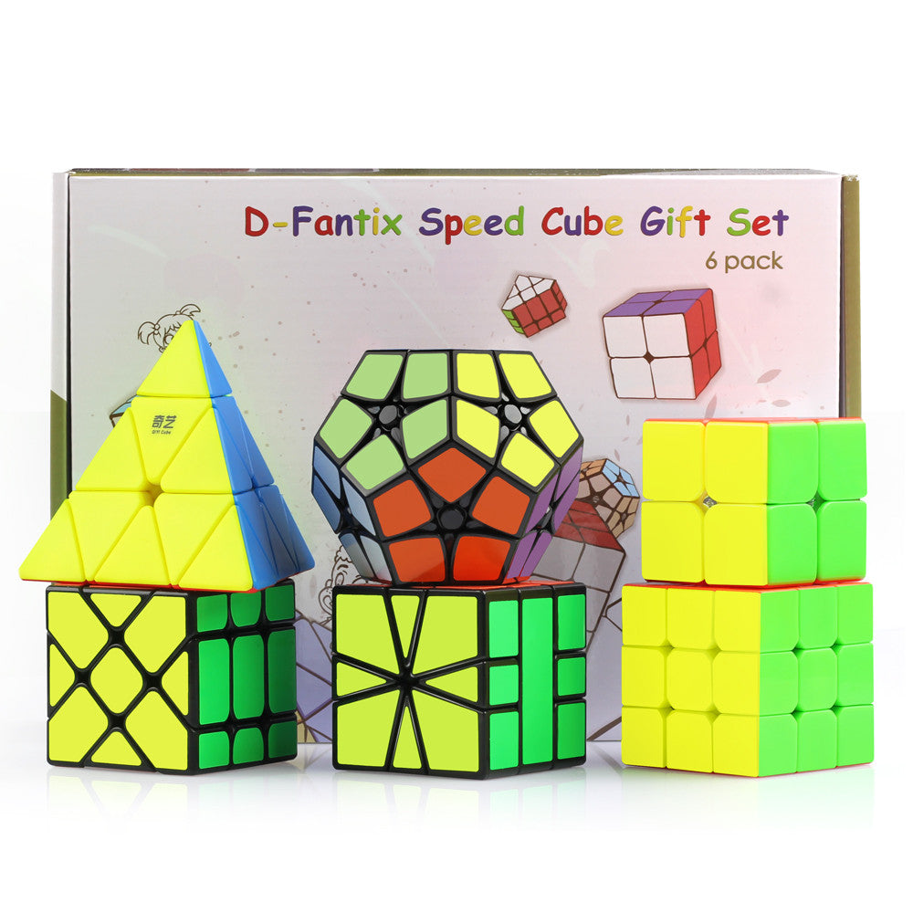 D-FantiX Cyclone Boys 2x2 3x3, Pyraminx, Square-1, Megaminx Speed Cube Bundle of 6