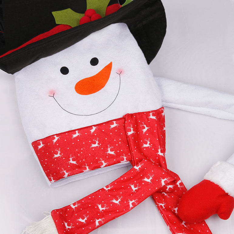 D-FantiX Top Hat Snowman Christmas Tree Topper