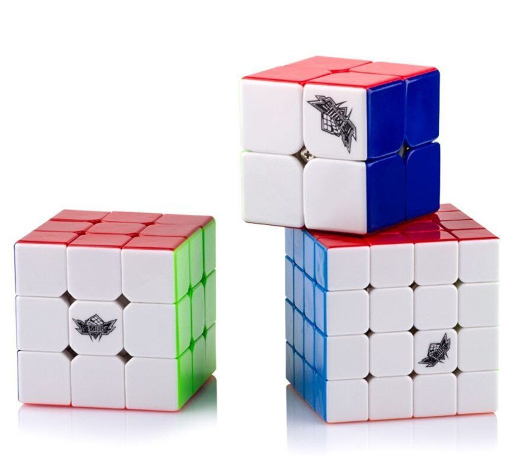 D-FantiX Cyclone Boys 2x2 3x3 4x4 Stickerless Speed Cube Bundle Set of 3