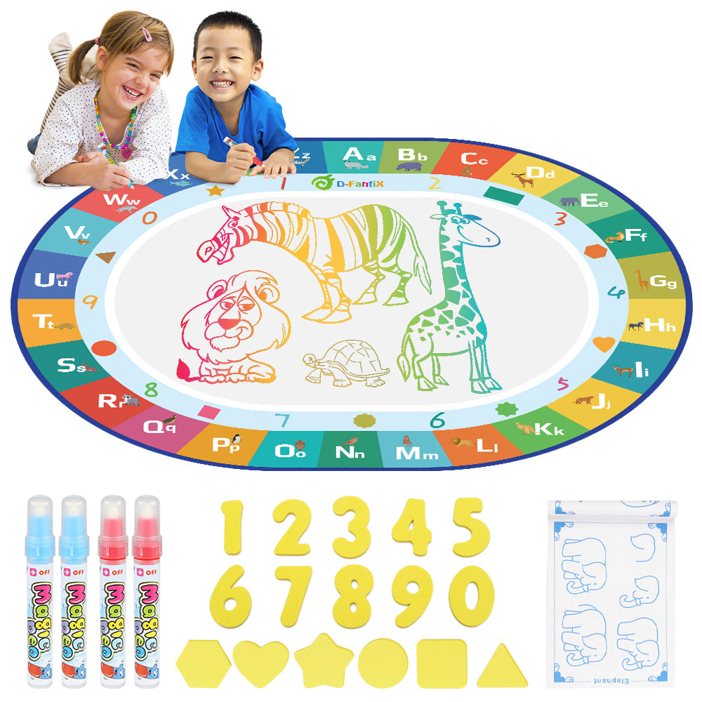 D-FantiX Water Doodle Mat with 4 Magic Pen