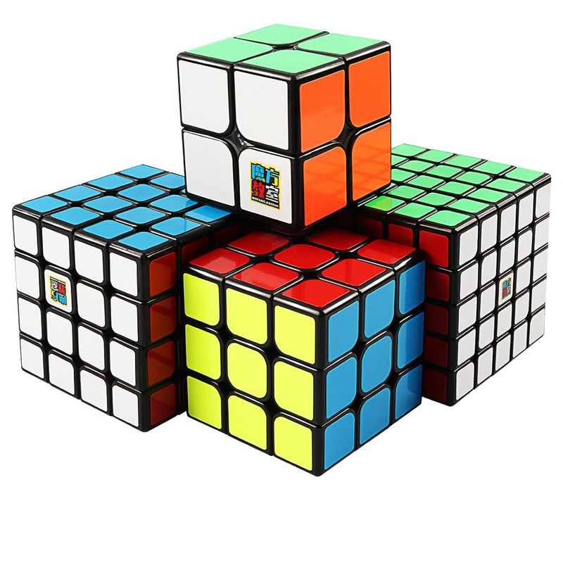 Moyu Cube Bundle 2x2 3x3 4x4 5x5 Speed Cube Black