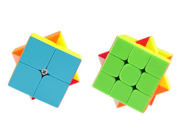 D-FantiX Qiyi Speed Cube Bundle 2x2 3x3 Stickerless