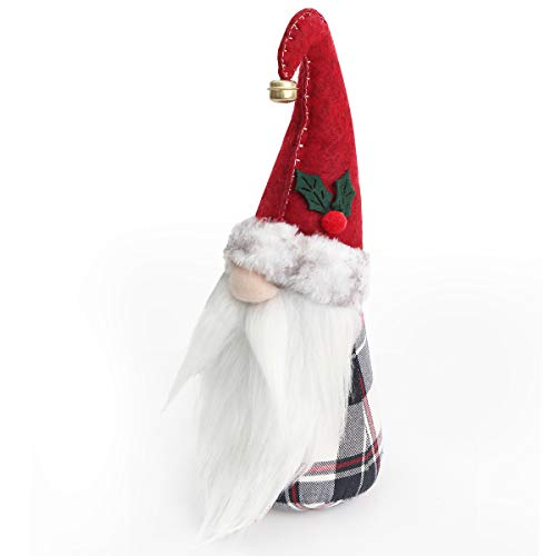 D-FantiX 11.4in Christmas Gnome Plush with Elf Hat
