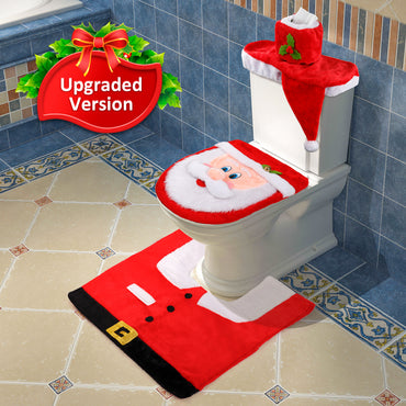 D-FantiX 3D Nose Santa Toilet Seat Cover Christmas Decorations