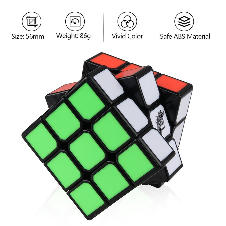 D-FantiX Cyclone Boys 3x3 Speed Cube Black (Feiku Version)