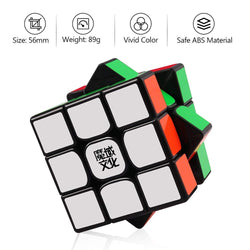 D-FantiX Moyu Weilong GTS2 M Magnetic Speed Cube 3x3 Black