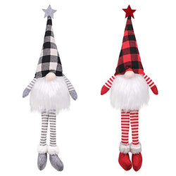 D-FantiX 2 Pack Christmas Gnome Decorations