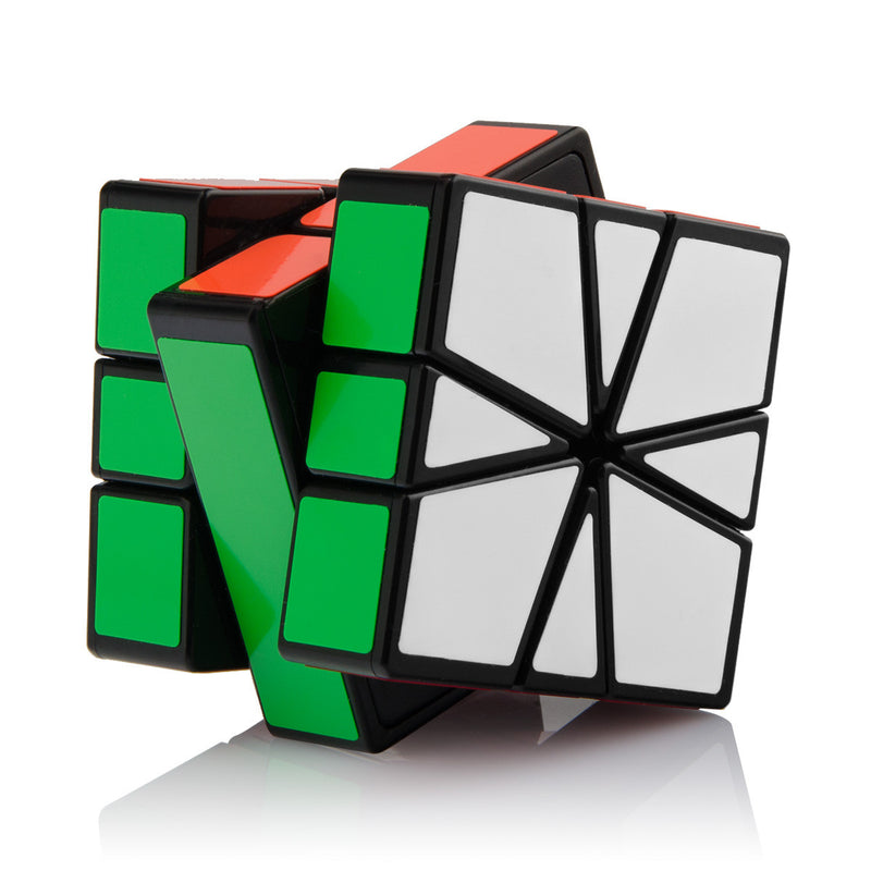 SQ-1 Non-cubic Speed Cube Black with Cube Stand