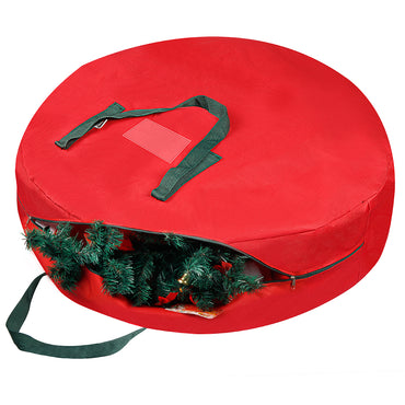 D-FantiX Large Christmas Wreath Storage Bag, 30 inch Wreath Storage Container for Garlands, Decorations and Ornaments