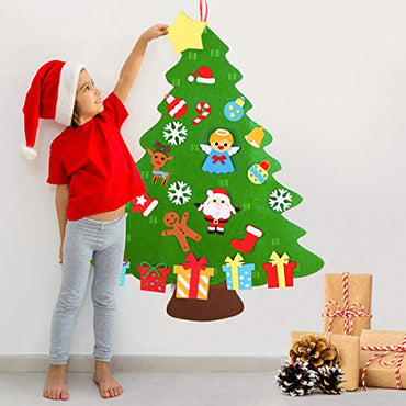 D-FantiX 3.1FT DIY Felt Christmas Tree for Toddlers