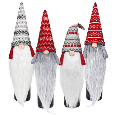 D-FantiX Christmas Gnome Wine Bottle Covers