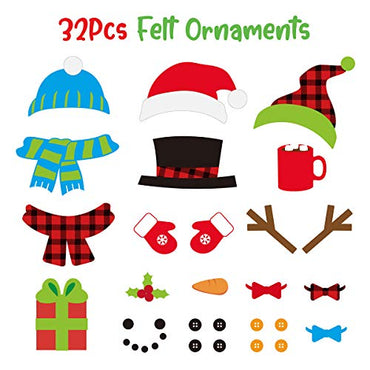 D-FantiX 3D DIY Felt Snowman Game Kit