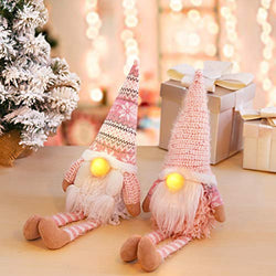 D-FantiX Pink Christmas Gnomes with Long Leg