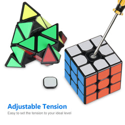 D-FantiX Speed Cube Set, MF3RS 3x3 MF2S 2x2 Skewb Pyramid