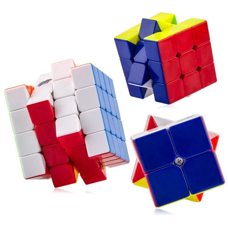Cyclone Boys 2x2 3x3 4x4 Stickerless  Bundle Set of 3
