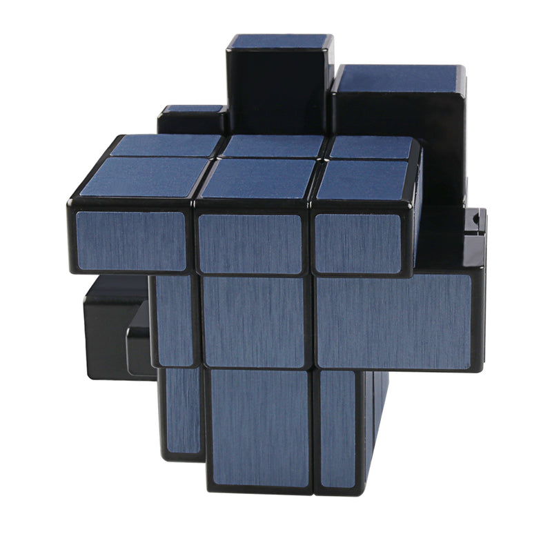 D-Fantix Qiyi Blue Mirror Cube 3x3 Mirror Blocks Speed Cube Shape Mod Puzzle Toy