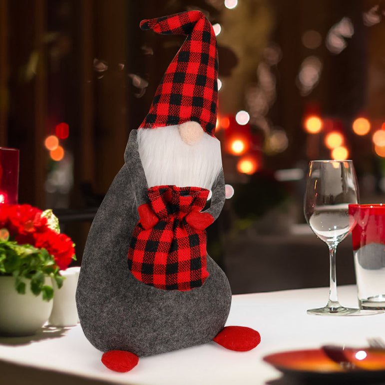 D-FantiX Christmas Gnomes Plush, Mr Santa Swedish Tomte
