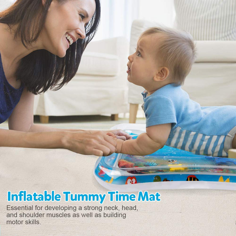 D-FantiX Inflatable Tummy Time Water Mat