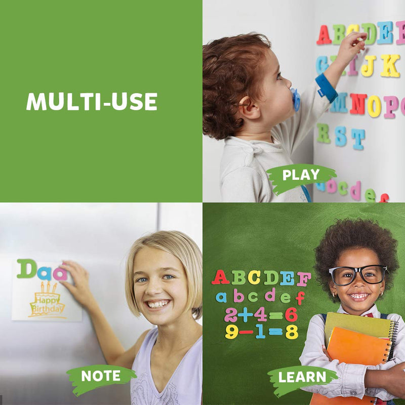 D-FantiX Magnetic Letters and Numbers 82 Pcs Colorful Foam Alphabet ABC 123 Math Symbols Magnets for Fridge Refrigerator