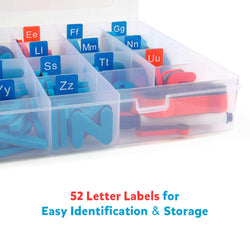 D-FantiX Magnetic Letters 208 Pcs Uppercase Lowercase Foam Alphabet ABC Magnets