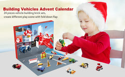 D-FantiX 2020 Kids Advent Calendar with Construction Vehicles Building Blocks