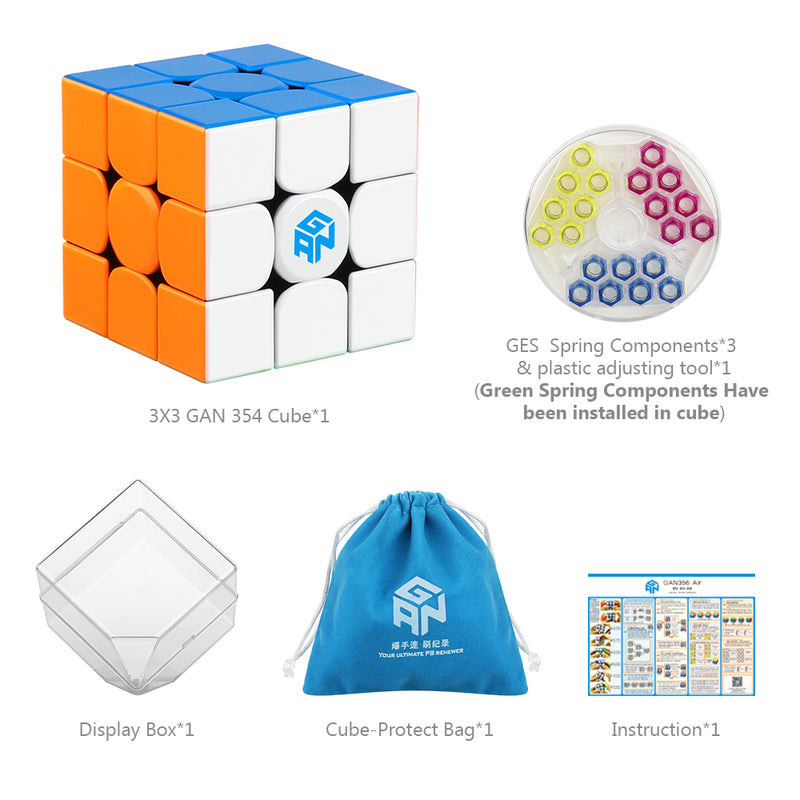 D-FantiX Gan 354 M 3x3 Speed Cube Stickerless Magnetic Cube Puzzle Toys