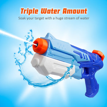 D-FantiX Water Guns 2 Pack, Super Water Blaster Soaker Squirt Guns Swimming Beach Playing