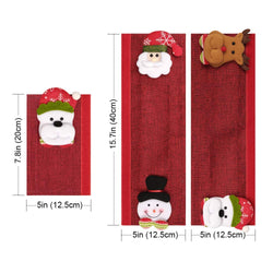 D-FantiX Santa Snowman Refrigerator Door Handle Covers Set of 8