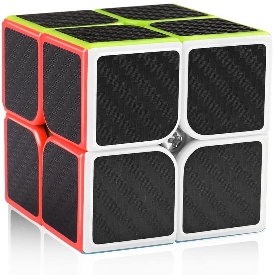 D-FantiX Carbon Fiber 2x2 Speed Cube Magic Cube