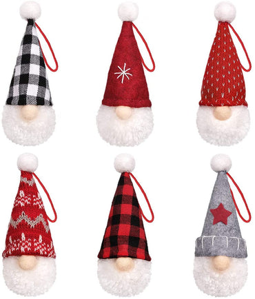 D-FantiX Gnome Christmas Ornaments Set of 6