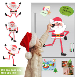 D-FantiX Jointed Fun Santa Refrigerator Magnets