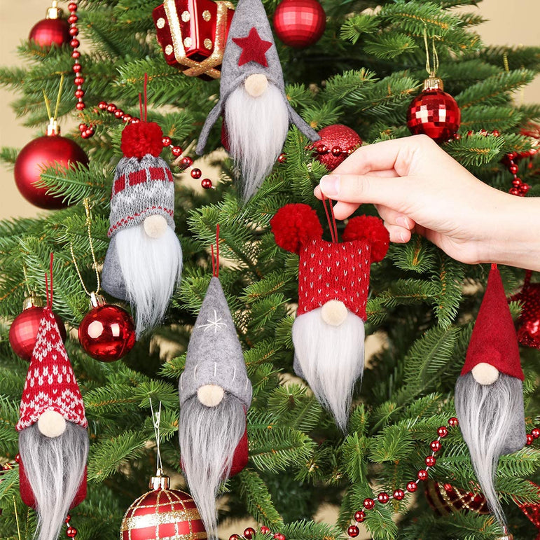 D-FantiX Gnome Christmas Ornaments Decor Set of 6