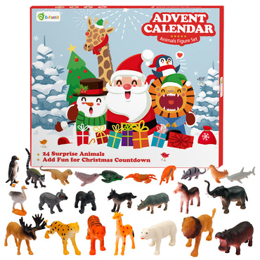 D-FantiX Animals Christmas Advent Calendar, Figurine Toys Advent Calendar