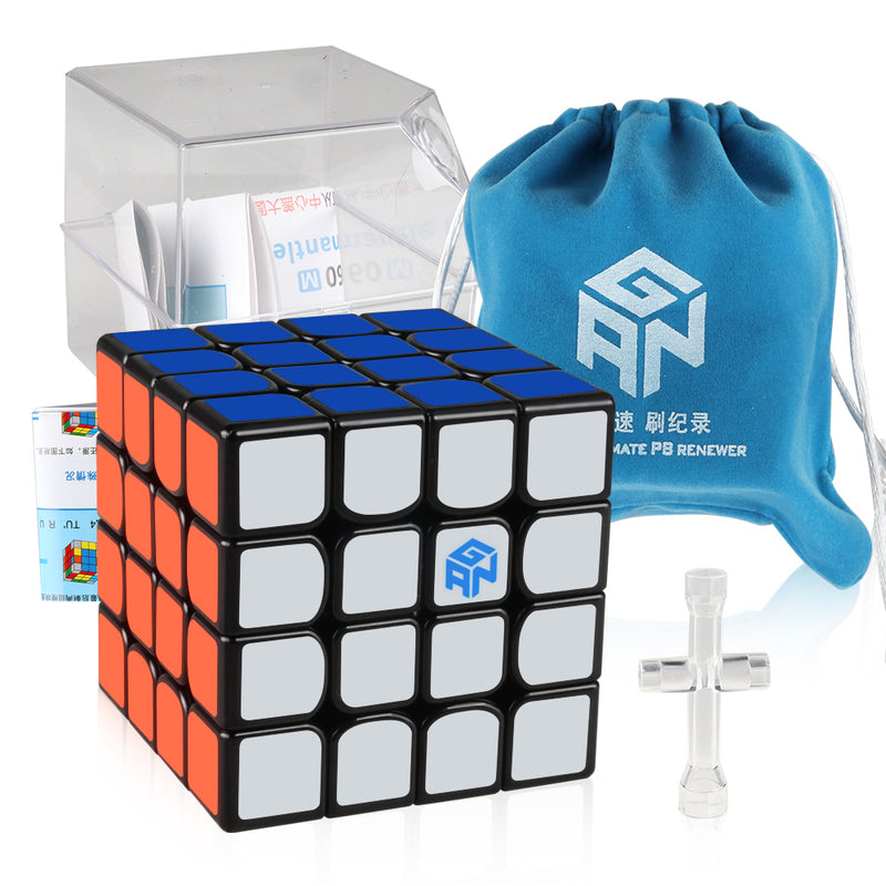 D-FantiX Gan 460 M 4x4 Speed Cube Gans 460 Stickerless Magnetic 4x4x4 Magic Puzzle Cube