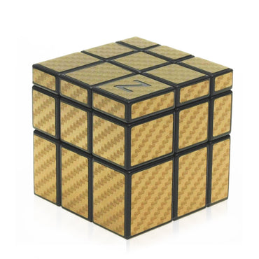 D-FantiX ZCUBE 3x3 Mirror Cube with Golden/Silver Carbon Fiber Sticker Magic Cube (Black)