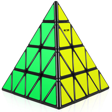 D-FantiX 4x4 Qiyi Master Pyramid Cube Smooth 4x4x4 Speed Cube Puzzles Toys 108mm Black