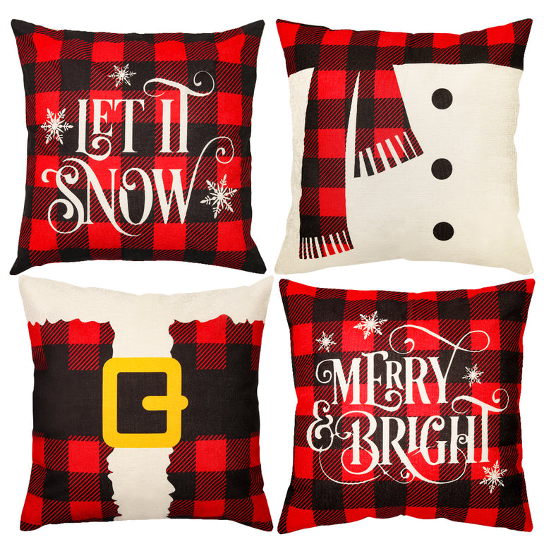 Pillow cover Snowman Believe in Magic