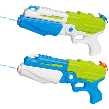 D-FantiX Water Gun 2 Pack, Super Blaster Soaker Squirt Guns High Capacity Outdoor Fighting