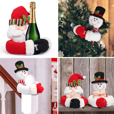 D-FantiX Christmas Curtain Buckle Tieback Set of 2, Santa Snowman Curtain Tiebacks